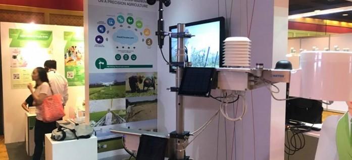 CTA ร่วมแสดงอุปกรณ์สถานีตรวจวัดสภาพอากาศและเซนเซอร์ดิน